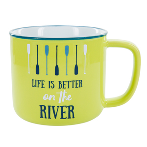 Better on the River by We People - 17 oz Mug