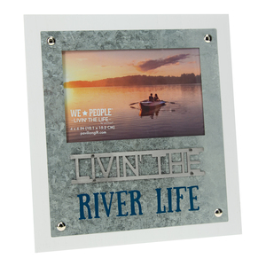 "River Life  by We People - 8.25"" x 9"" Frame (Holds 4"" x 6"" Photo)"