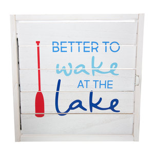 "Wake at the Lake by We People - 14.5"" Decorative Framed Window Shutter"