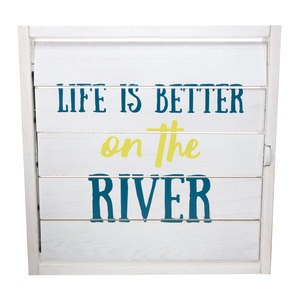 "River Time by We People - 14.5"" Decorative Framed Window Shutter"