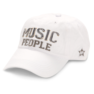 Music People by We People - White Adjustable Hat