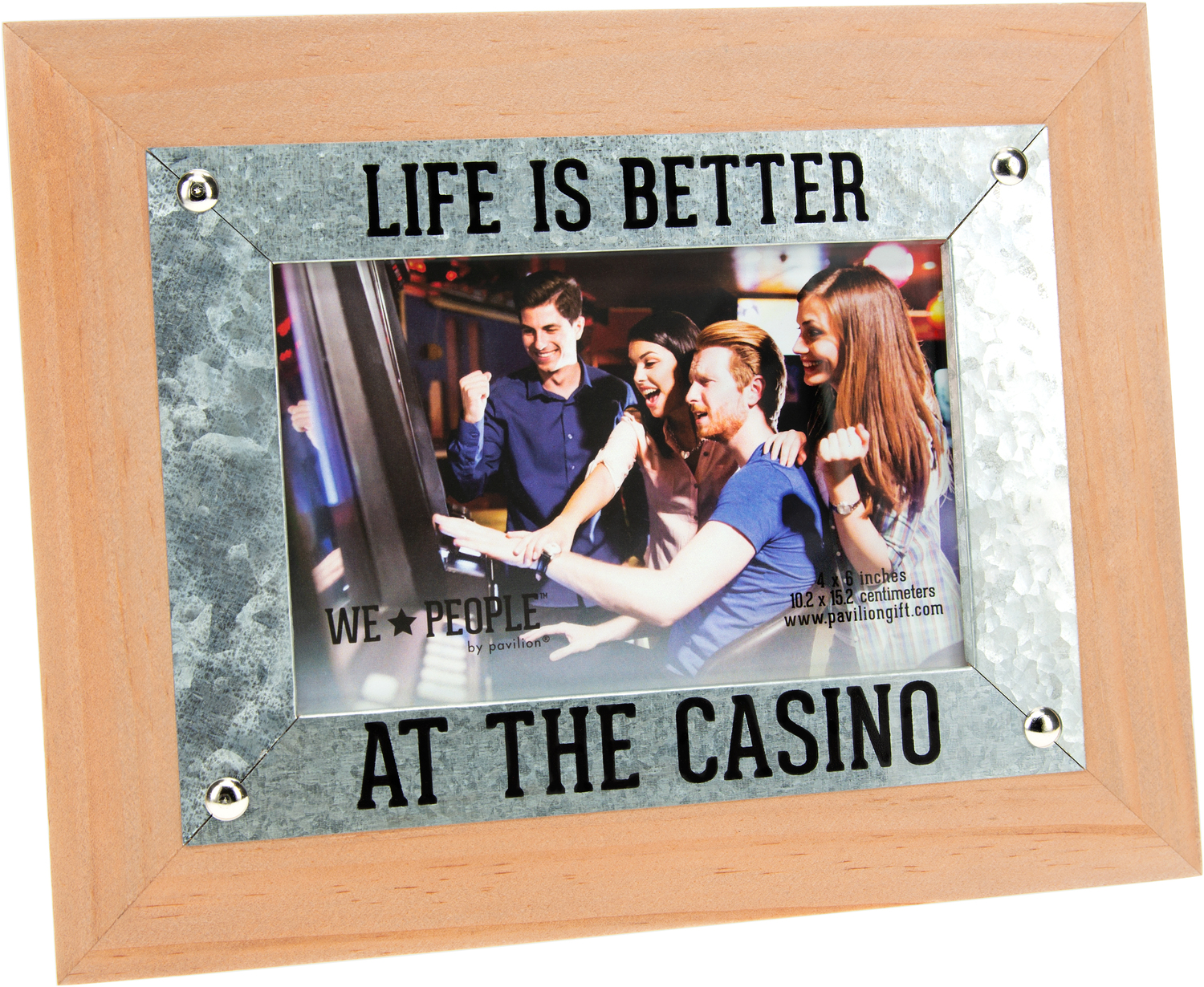 "Casino People by We People - Casino People - 9.5"" x 7.5"" Frame (Holds 6"" x 4"" Photo)"