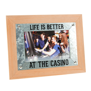 "Casino People by We People - 9.5"" x 7.5"" Frame (Holds 6"" x 4"" Photo)"