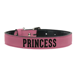 "S/M Princess by We Pets -  15"" PU Leather Pet Collar"