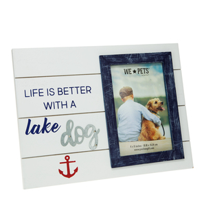 "Lake Dog by We Pets - 10.5"" x 8"" Frame (Holds 6"" x 4"" Photo)"