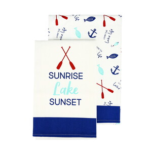 "Lake by We People - Tea Towel Gift Set (2 - 19.75"" x 27.5"")"