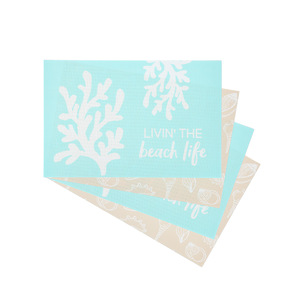 "Beach by We People - Placemat Gift Set (4 - 17.75"" x 11.75"")"