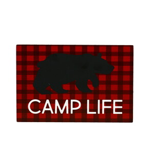 "Camp Life by We People - 6"" x 4"" MDF Plaque"