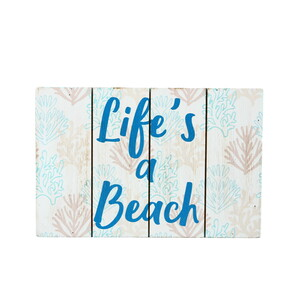 "Life's a Beach by We People - 6"" x 4"" MDF Plaque"