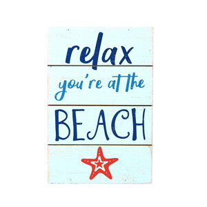 "Relax at the Beach by We People - 4"" x 6"" MDF Plaque"