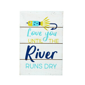"River Runs Dry by We People - 4"" x 6"" MDF Plaque"