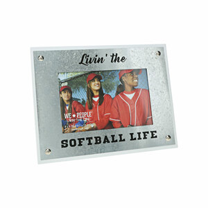 "Softball Life by We People - 8.5"" x 6.5"" Frame (Holds 4"" x 6"" Photo)"