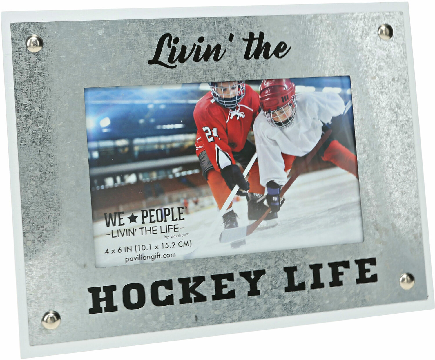 "Hockey Life by We People - Hockey Life - 8.5"" x 6.5"" Frame (Holds 4"" x 6"" Photo)"