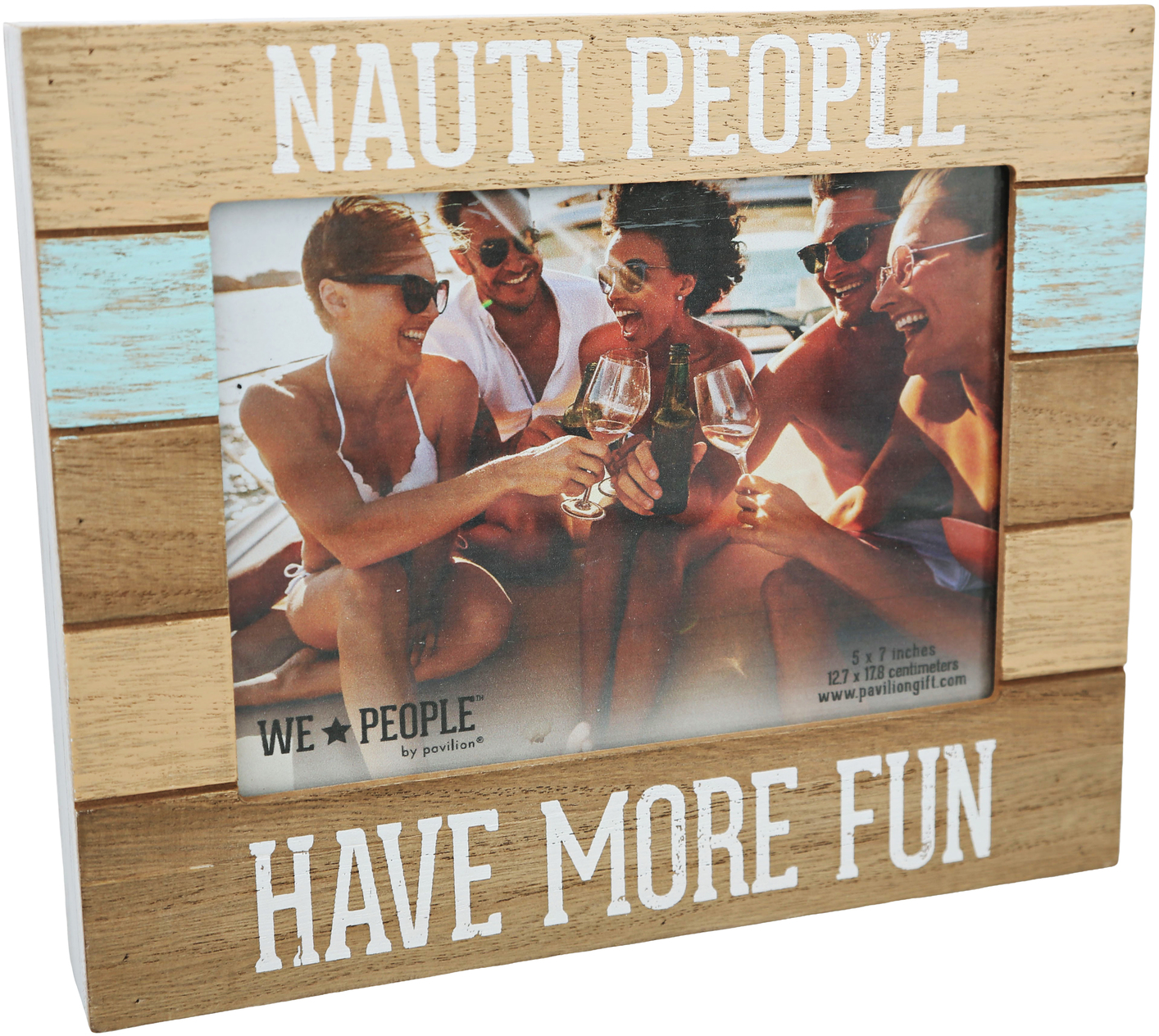 "Nauti People by We People - Nauti People - 9"" x 7.25"" Frame (Holds 5"" x 7"" photo)"
