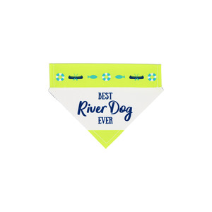 "River Dog by We Pets - 7"" x 5"" Canvas Slip on Pet Bandana"