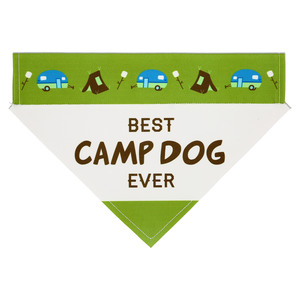 "Camp Dog by We Pets - 12"" x 8"" Canvas Slip on Pet Bandana"