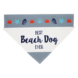 "Beach Dog by We Pets - 12"" x 8"" Canvas Slip on Pet Bandana"