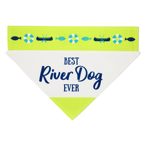 "River Dog by We Pets - 12"" x 8"" Canvas Slip on Pet Bandana"