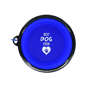 "Best Dog by We Pets - 7"" Collapsible Silicone Pet Bowl"