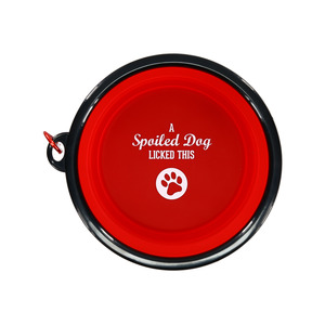 "Spoiled Dog by We Pets - 7"" Collapsible Silicone Pet Bowl"