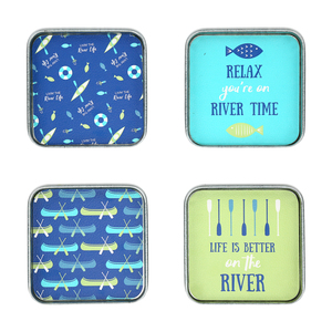 "River by We People - 4"" (4 Piece) Coaster Set"