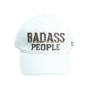 Badass People by We People - White Adjustable Hat
