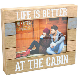 "Cabin People by We People - 9"" x 7.25"" Frame (Holds 5"" x 7"" photo)"