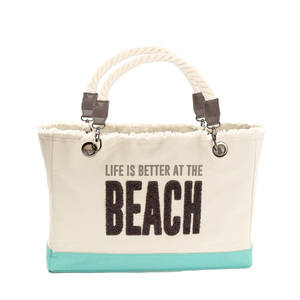 "Beach by We People - 21"" x 12"" Canvas Tote"