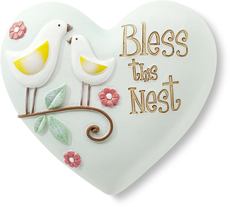"Bless this Nest by Heart Expressions - 2.5"" Inspirational Heart"