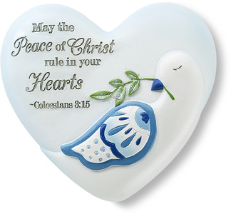 "Peace of Christ by Heart Expressions - 2.5"" Inspirational Heart"
