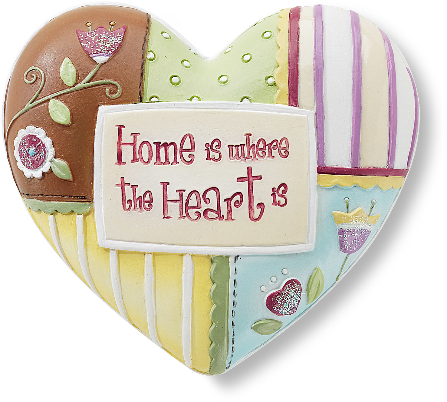 "Home by Heart Expressions - Home - 2.5"" Inspirational Heart"