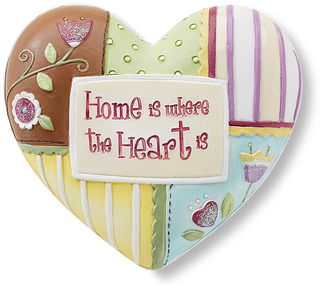 "Home by Heart Expressions - 2.5"" Inspirational Heart"