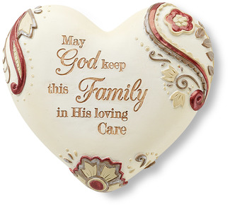 "Family by Heart Expressions - 2.5"" Inspirational Heart"