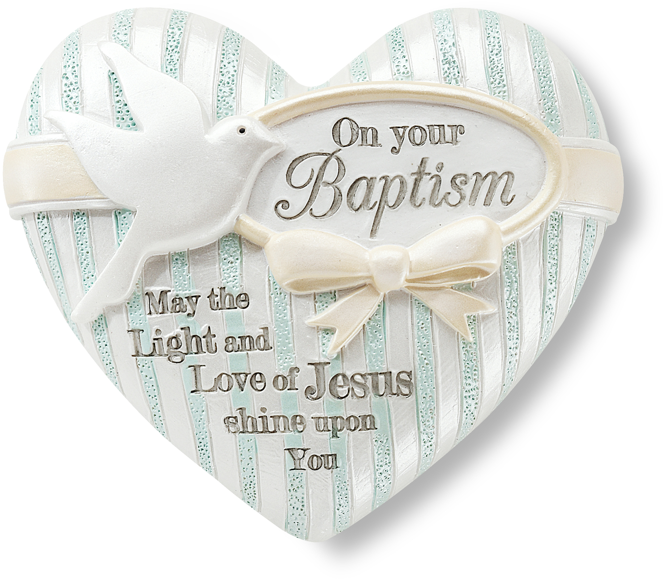 "Baptism by Heart Expressions - Baptism - 2.5"" Inspirational Heart"