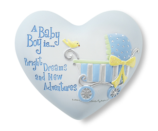 "Baby Boy by Heart Expressions - 2.5"" Inspirational Heart"