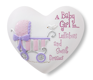 "Baby Girl by Heart Expressions - 2.5"" Inspirational Heart"
