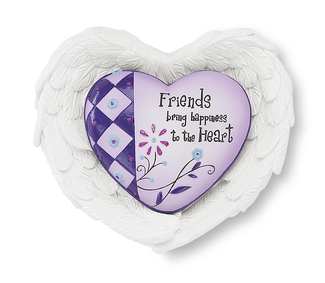 "Friend by Heart Expressions - 3""x3.5"" Heart/Wing Gift Set"