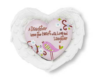 "Daughter by Heart Expressions - 3""x3.5"" Heart/Wing Gift Set"
