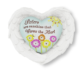"Sister by Heart Expressions - 3""x3.5"" Heart/Wing Gift Set"