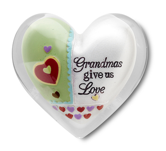 "Grandma by Heart Expressions - 1.5"" Heart Token"