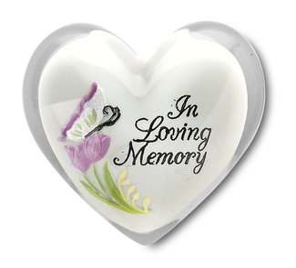 "In Loving Memory by Heart Expressions - 1.5"" Heart Token"