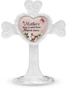 "A Mother's Love by Heart Expressions - 4"" Self Standing Cross"
