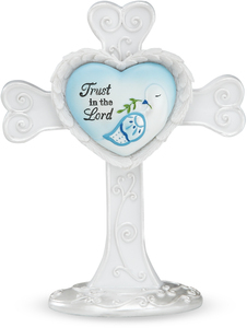 "Trust in the Lord by Heart Expressions - 4"" Self Standing Cross"