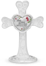 "Love by Heart Expressions - 7"" Self Standing Cross"