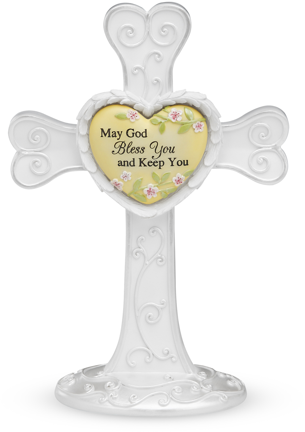 "God Bless You by Heart Expressions - God Bless You - 7"" Self Standing Cross"