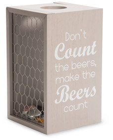 "Make Beers Count by Man Crafted - 8.5"" Bottle Cap Collector"