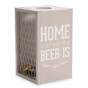 "Home Beer by Man Crafted - 8.5"" Bottle Cap Collector"
