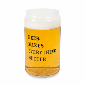Beer Makes Everything Better by Man Crafted - 16oz. Beer Can Glass Tea Light Holder