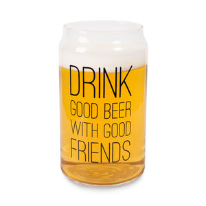 Drink Good Beer by Man Crafted - 16oz. Beer Can Glass Tea Light Holder