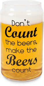 Make Beers Count by Man Crafted - 16oz. Beer Can Glass Tea Light Holder
